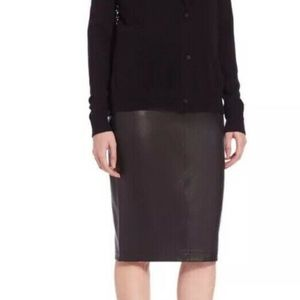 Saks Fifth Avenue Vintage pencil Leather Skirt GUC